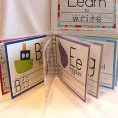 Learn to Write: Letters printable dry erase book