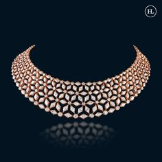 New Gold Jewellery Designs, Jewelry Design Earrings, Necklace Designs, Diamond Choker Necklace, Diamond Jewellery, Hazoorilal Jewellers, Bridal Necklace Set, Necklaces, Outfits