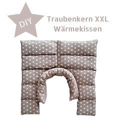 DIY - XXL Wärmekissen mit Traubenkernfüllung