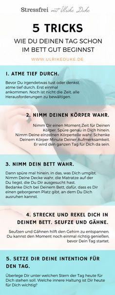 Achtsam Aufstehen - 5 Tricks WIE DU DEINEN TAG SCHON IM BETT GUT BEGINNST