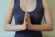 Namasté Geste beim Yoga