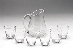 Carafe GN 7 and glasses GN 23 Nyman, Gunnel, Nuutajärvi Glass Design, Design Art, Apt Ideas, Carafe, Finland, Modern Contemporary, Scandinavian, Retro Vintage, Glasses