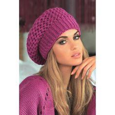 Moherowy beret Kamea Samanta