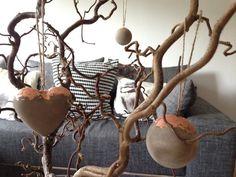 Baumschmuck: Kugeln - Betonanhänger, Kupfer - ein Designerstück von m_hoch3 bei DaWanda