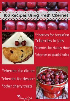 100 Recipes Using Fresh Cherries from the world's most popular food blogs #summer