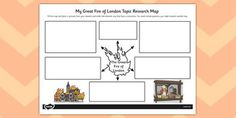 The Great Fire of London Topic Research Map - research map, fire Great Fire Of London, The Great Fire, Primary Resources, School Resources, Ourselves Topic, Fire Art, Cool Themes, Blog Topics, Primary School