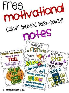 Krazee 4 Kindergarten: Motivational Candy Themed Test Taking Notes Student Treats, Student Gifts, Testing Treats For Students, School Gifts, Math Journal Prompts, Candy Notes, Staar Test, Student Motivation, Test Prep