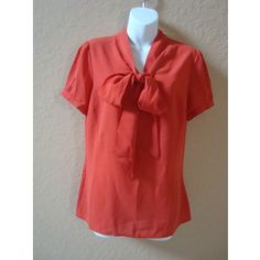 New Asos Pussybow Short Sleeve Blouse Red Orange UK 10 US 6 ebay.com New Asos Pussybow Short Sleeve Blouse Red Orange UK 10 US 6 in Clothing, Shoes & Accessories, Women's Clothing, Tops & Blouse
