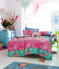 Bedroom. Chic Furniture Bohemian Style Bedrooms Design. Cute Chic Boho Bedroom  Colorful Bedding  Come With Unique Lighting  And Green Chair For A Flower Vase  Plus Blue Drawer  Along With Mirror  As Well As Flower Vase  Plus White Hardwood Floor  Also Rug. Bohemian Style Bedrooms
