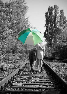 Walk with me under my umbrella