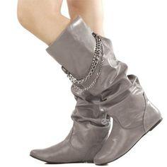 Izo jewel chained boots