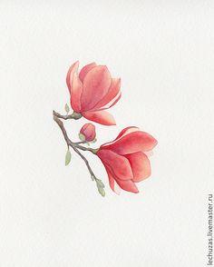 Купить Акварель Цветение. Рис.3 - цветы, акварель, картина с цветами, цветы акварелью