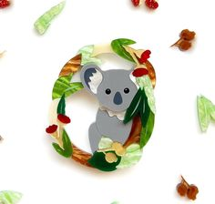 Kirby the Koala Brooch - Limited Christmas Themes, Christmas Ornaments, Nativity, Arrow, Deer, Dinosaur Stuffed Animal, Wreaths, Disney Characters, Cute