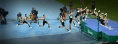High jump Derek Drouin, the Games' Highest Jumper  This gold-medal winning jump by the Canadian was 2.38 meters (7.8 feet). He cleared all the previous heights without a miss. …