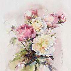 Watercolorist: @olena.duchene #waterblog #акварель #aquarelle #painting…