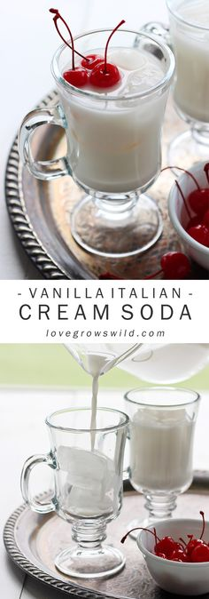 Learn how to make Italian Cream Sodas at home! This cross between creamy vanilla ice cream and fizzy soda is the perfect sip when you want a sweet treat. Get the recipe at LoveGrowsWild.com