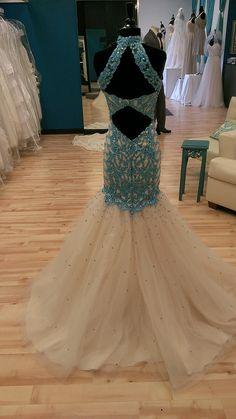 High Neck Low Back Prom Dress   Shop Bridal Cottage