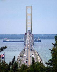 The Mackinac Bridge is currently the third longest suspension bridge in the world.  The bridge opened to traffic on November 1, 1957. We used it fall break 2011,wonderful area of Mi.