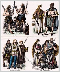 Ancient Germans, Teutons Clothing. From Stone Age to the 4th century.