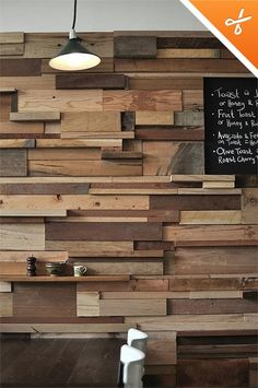 pallet wall...would be beautiful with pops of color through accent flowers, vases, art, etc