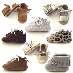 Flexible soft soles help balance your babe's toes gripping onto the ground when learning to walk, and help the natural development of their feet growth. Let your babe look and feel good in these fashionable baby shoes!