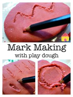 mark making with play dough :: pre writing activities :: multi sensory writing activities. Handwriting for kids how to improve. Childcare Activities, Nursery Activities, Playdough Activities, Preschool Activities, Activities For 2 Year Olds At Nursery, Preschool Plans, Motor Activities, Writing Area, Pre Writing