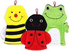 Amazon.com: Terrycloth Animal Puppet Bath Mitts (Meadow Critters): Baby