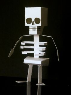 Papercraft Skeleton, A Halloween Papecraft Project For Kids