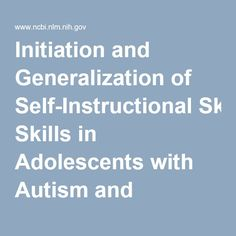 Four out of four ASD participants with intellectual disability learned to initiate and self-instruct via iPhone instructional videos, and maintained self-instruction behaviors one week after the initial exposure.