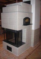 Laatoitettu takka/leivinuuni Decor, Kitchen, Home, Fireplace, Home Decor