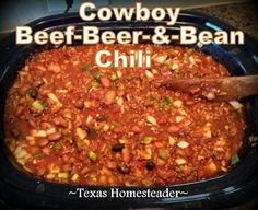 Discover recipes, home ideas, style inspiration and other ideas to try. Pork Roast Recipes, Chilli Recipes, Bean Recipes, Roast Beef, Soup Recipes, Hearty Chili Recipe, Best Chili Recipe, Best Cowboy Chili Recipe, Chili Recipe With Beer