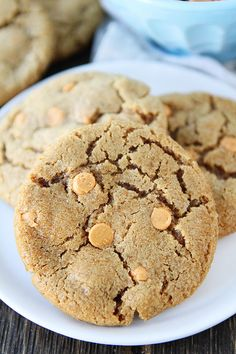 Brown Sugar Butterscotch Cookie Recipe on twopeasandtheirpod.com You HAVE to make these!