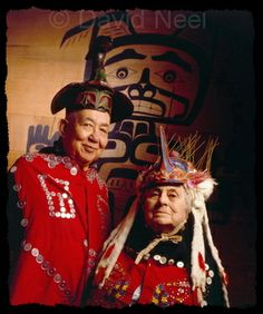 Northwest Native chief and his wife, photograph by David Neel  My Great Aunt Ethel(Hanuse/Charlie) Alfred, with my Great Uncle Hereditary Chief Alvin Alfred.