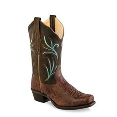 Old West® Women's Fashion Wear Boots - Charcoal Grey Crackle #oldwest #fashion #western #boots #cowgirl #pungoridge #westernbootsales