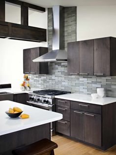 True Artisan Heritage Oceanside Glasstile was founded in 1992 with a boundless spirit of innovation, a passion for hot glass and a new vision for the tile industry. www.remodelworks.com #kitchen #modern