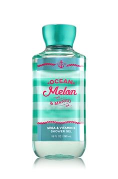 Ocean Melon & Mango - Shower Gel - Signature Collection - Bath & Body Works - Wash your way to softer, cleaner skin with a rich, bubbly lather bursting with fragrance. Moisturizing Aloe and Vitamin E combine with skin-loving Shea Butter in our most irresistible, beautifully fragranced formula!