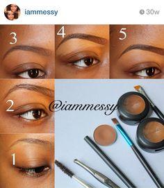 Brow tutorial. Follow her IG for makeup looks & tips .