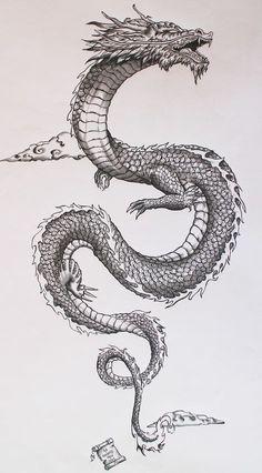 40 ideas for tattoo dragon japones - 40 ideas for tattoo dragon japones - - 40 ideas for tattoo dragon japones – 40 ideas for tattoo dragon japones – - tattoo designs Dragon Tattoos For Men, Dragon Sleeve Tattoos, Japanese Dragon Tattoos, Dragon Tattoo Designs, Chinese Dragon Drawing, Dragon Tattoo On Thigh, Dragon Tattoo Simple, Dragon Tattoo Drawing, Asian Dragon Tattoo