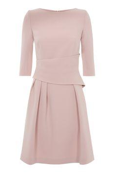 The Fold London Camelot Dress Blush Pink
