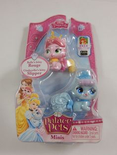 Disney Princess Palace Pets Mini Collectables 2 Pack - Rouge and Slipper  NEW #Disney