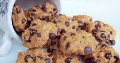 Grain Free Chocolate Chip Cookies - Easy to veganize. Unique Recipes, Real Food Recipes, Cookie Recipes, Yummy Food, Clean Recipes, Cheesecake Recipes, Paleo Recipes, Free Recipes, Snack Recipes