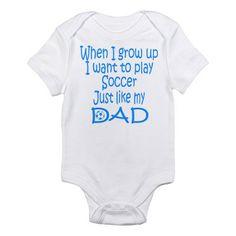 Soccer Just like Dad blue Infant Creeper