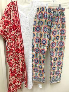 Traditional Fashion, Traditional Outfits, Lovely Dresses, Stylish Dresses, Phulkari Pants, Trendy Kurti, Simple Pakistani Dresses, Kurtis With Pants, Designer Bridal Lehenga