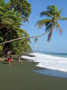 Barefoot backpacking on Playa Madrigal Osa Peninsula Costa Rica.  Some moments you can only get by earning them with sweat
