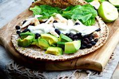 Tasty food for busy mums: Black Bean, Avocado & Spinach Chicken Wraps