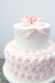 Girl baby shower cake astonishing design pink cakes rosettes rose sayings . Torta Baby Shower, Tortas Baby Shower Niña, Baby Shower Cake Pops, Baby Girl Shower Themes, Girl Baby Shower Decorations, Shower Cakes, Christening Cake Girls, Girl Cakes, Cupcake Cakes
