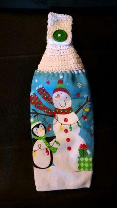 Snowman & penguin towels