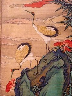 The Ten Symbols of Longevity Korea Late Joseon Period century CE folding silk screen 10 Tibetan Art, University Of Oregon, Korean Art, Japan, Art Museum, Folk Art, 19th Century, Eye Candy, Oriental