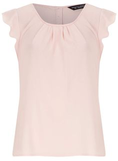 Photo 1 of Blush Flutter Sleeve Crepe Top