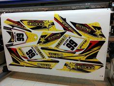 Yamaha YFZ 450  GYTR rockstar graphics kit by Fireblade Graphics.